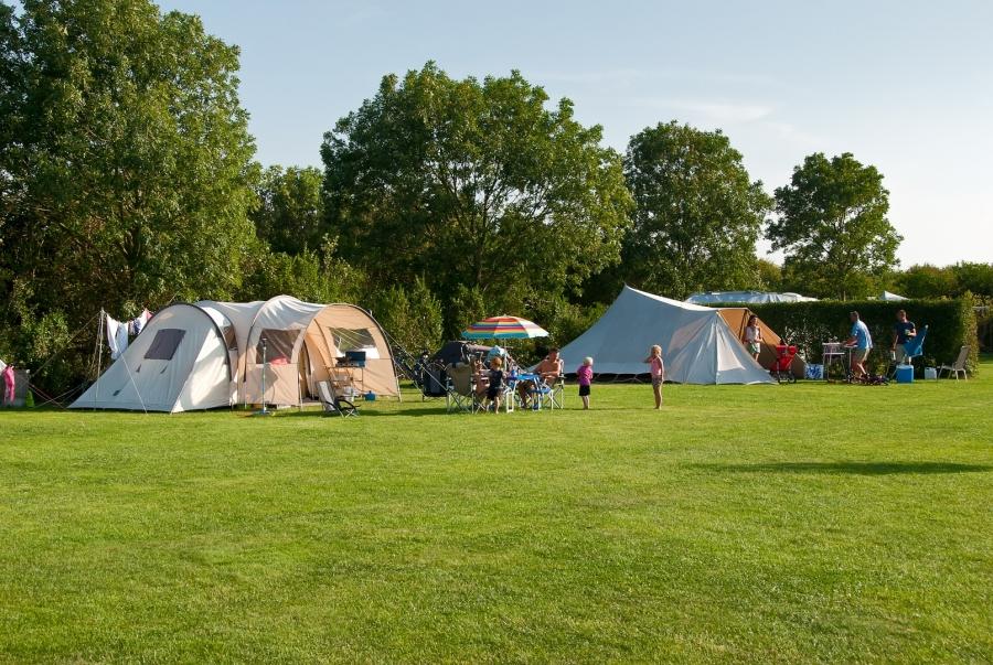 Ruime kampeerplaats camping Renesse